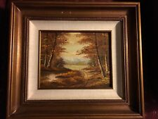 Signed Vintage Phillip Cantrell Oil On Board Painting
