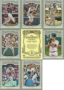 Boston Red Sox 2013 Topps Gypsy Queen 12 Card Team Set  David Ortiz Wade Boggs