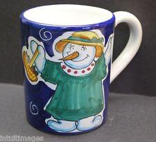 STARBUCKS LADY SNOWMAN Coffee Mug SBERNA-DERUTA ITALY