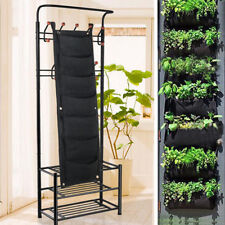 7 Pocket Vertical Hanging Planting Plant Pocket Pot Bags Garden Wall Planter