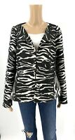 Lafayette 148 Womens Suit Jacket Blazer Animal Print Size 16 Brown White O1