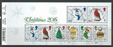 GREAT BRITAIN 2016 CHRISTMAS MINIATURE SHEET WITH BARCODE  FINE USED