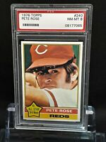 1976 Topps 240 Pete Rose - HOF? - Reds - PSA 8 - NM-MT - 08177065 - SCA