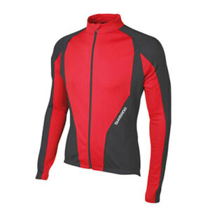 SHIMANO Long Sleeve Jersey Winter Black True Red