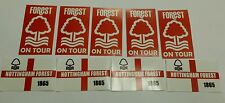 Nottingham Forest on Tour & Bandera Pegatinas-NFFC fútbol Sticker Set (20)