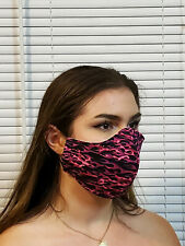 Face Pink Flames Double Layer reusable washable Unisex Made In The USA