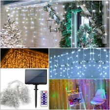 Christmas Solar Lights Icicle Effect Outdoor Indoor Xmas House Decor LED Light
