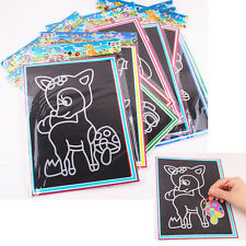 2x novelty scratch carton bricolage dessiner croquis notes memo pad for kids fg