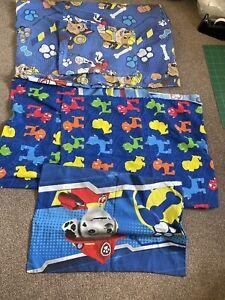 2 Sets  Patrol Blue Single Duvet Bedding Kids Duvet Cover & Pillowcase