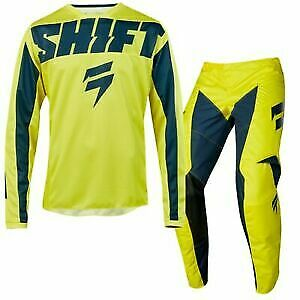 BRAND NEW SHIFT YOUTH/KIDS WHITE LABEL MOTOCROSS MX KIT SIZE 28W X-LARGE JERSEY