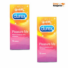 Durex Pleasure Me Condoms Pack of 24 Ribbed and Dotted Free Postage