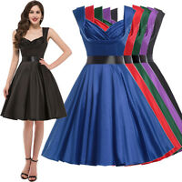 1950S 50'S 60'S SWING PINUP PARTY HOUSEWIFE VINTAGE STYLE PROM DRESS