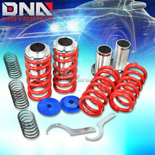 "FOR 93-97 NISSAN ALTIMA U13 0-3""SCALED SUSPENSION BLACK COILOVER RED SPRINGS"