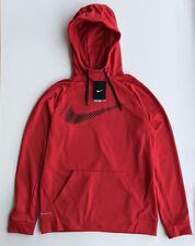 Nike Therma Fit Men's Hoodie Long Sleeve Gym Red 839100 657