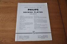 Philips NG5151 Record Player Workshop Service Manual NG 5151