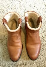 N.D.C. Brown Distressed Leather Rubber Sole Ankle Boots Size 35, 5US