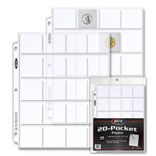 Coin Protector Album Binder Plastic Sheets Sleeves 20 Pocket x 20 Pages 2 x2""