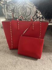 ZARA Reversible tote Bag Red/nude