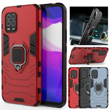 For Xiaomi Mi 10 Lite 5G Shockproof Rugged Armor Ring Holder Stand Case Cover