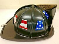 8 FULLY Reflective Tattered Worn American Flag Fire Helmet Tetrahedrons Tets