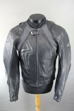 HEIN GERICKE PRO SPORTS LEATHER BIKER JACKET WITH REMOVABLE CE PROTECTORS: 40 IN