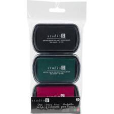 Studio G DYE INK PAD Set of 3 VINTAGE Colors Black Green Red SP7866