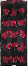 - Superbe Echarpe en mousseline  soie  vintage Scarf  27 x 140 cm