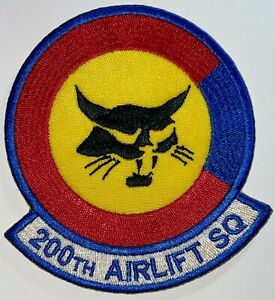 USAF 200th Airlift Squadron Patch Hook & Sew-On Repro New A724
