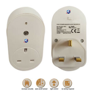 Dusk To Dawn Sensor Plug In Time Switch Home Energy Saver Security Light Timer