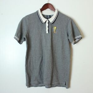 Warner Bros Women's Small Ladies Tweety Black White Golf Polo Shirt