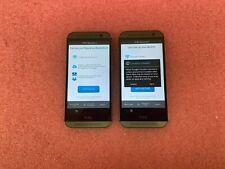 HTC ONE M8 WINDOWS SMART PHONE 32GB GUNMETAL GRAY AT&T *LOT OF 2*