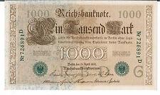 ALLEMAGNE Billet 1000 P45a 21.04.1910 AU-UNC