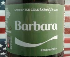 Share A Coke Life With Barbara 2017 Limited Edition Green Label Coca Cola Bottle
