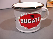 PLAQUE EMAILLEE TASSE cafe mug BUGATTI  enamel COFFEE CUP EMAIL