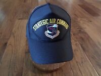 U.S AIR FORCE SAC MILITARY HAT OFFICIAL BALL CAP STRATEGIC AIR COMMAND USA MADE