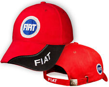 2a053af8404 FIAT Red Black Baseball Cap 3D Embroidered Auto Logo Adjustable Hat Mens  Womens