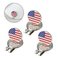 Crestgolf 3pcs/pack National Flag Golf Ball Marker Magnetic Golf Hat Clip