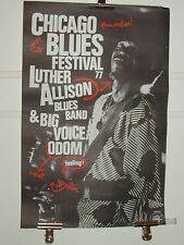 LUTHER ALLISON-CHICAGO BLUES FESTIVAL 77-POSTER-AFFICHE ORIGINALE-BIG VOICE ODOM