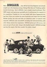 1960 English Ford line Anglia 4-door Sedan Little League Baseball team PRINT AD