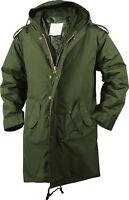 Olive Drab Military M-51 Fishtail Parka Jacket