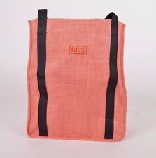 2015 NWOT WOMENS NILS TOTE BAG $25 salmon woven black straps