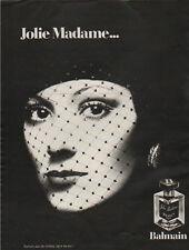 Publicité Advertising  Jolie Madame parfum eau de toilette ligne de bain BALMAIN