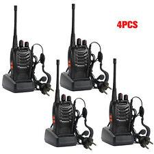 4 X Baofeng BF-888S Long Range Walkie Talkie UHF 400-470MHZ 2-Way Radio 16CH Ky