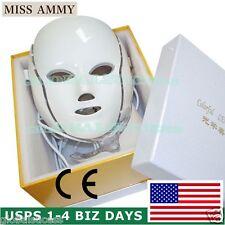 7 Colors Led Light Therapy Mask Facial Skin Rejuvenation Anti-Aging Skin Care US