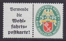 Deutsches Reich 1929 Zusammendruck W 35 ** postfrisch Nothilfe Wappen 70,-€