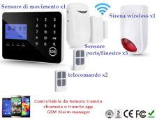 Sistema di allarme GSM PSTN wireless antintrusione, sirena WIRELESS