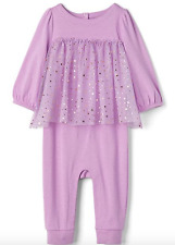 BABY GAP GIRL Double layer tulle one-piece romper 3-6m n9 NWT