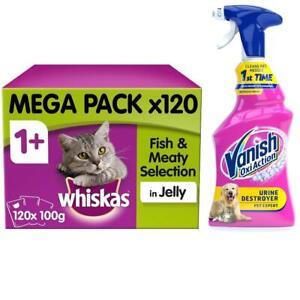 Vanish Pet Expert Carpet Care Spray 500ml & Whiskas Adult Cat Food 120 Pouches