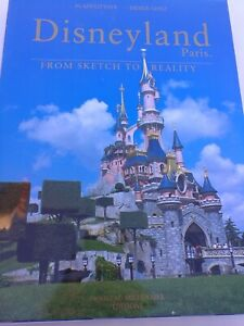 RARE! Disneyland Paris From Sketch to Reality book, English, Collector's Edition