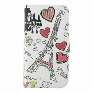 For Samsung Galaxy Express Prime 3/J3 (2018) Heart Tower Leather Case Cover